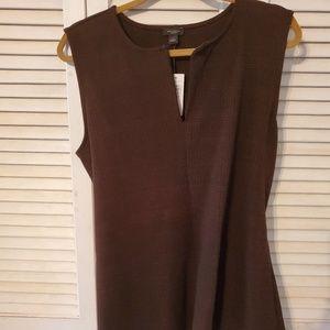 Ann Taylor Doubleweaved  pullover sash vest(Large)